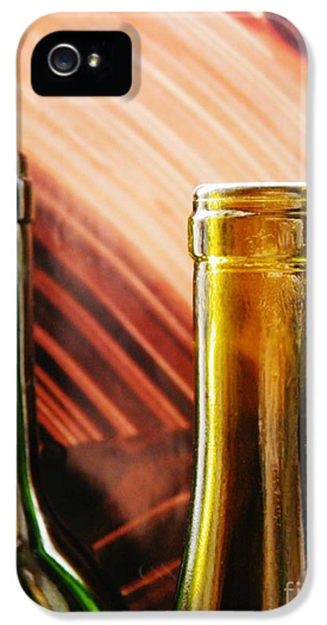 Wine Bottles 2 IPhone 5 Case featuring the photograph Wine Bottles 2 by Sarah Loft