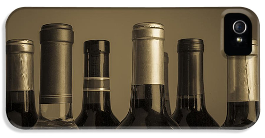 Wine IPhone 5 Case featuring the photograph Wine Bottles by Diane Diederich
