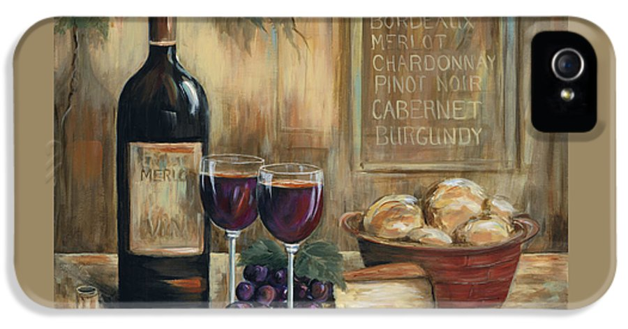 Wine IPhone 5 Case featuring the painting Wine For Two by Marilyn Dunlap