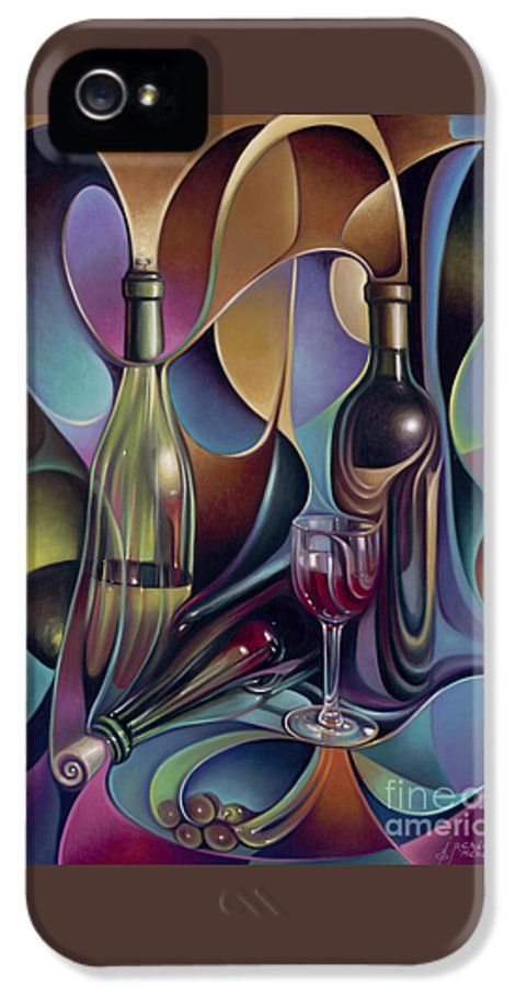 Wine IPhone 5 Case featuring the painting Wine Spirits by Ricardo Chavez-Mendez