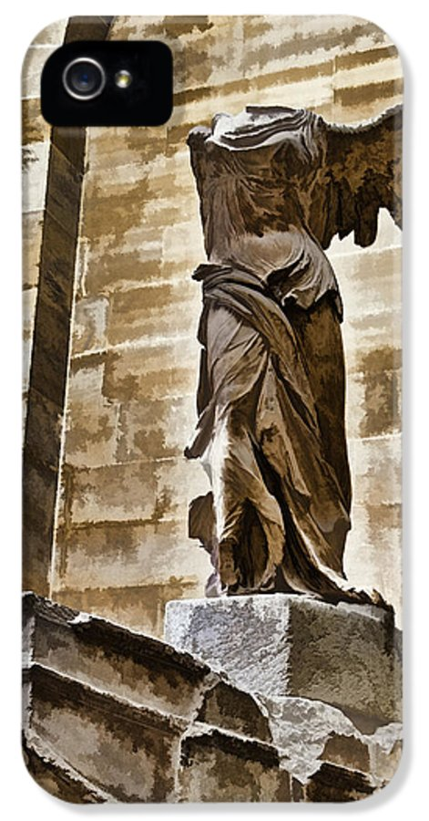 France IPhone 5 Case featuring the photograph Winged Victory - Louvre by Jon Berghoff