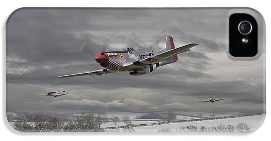 Aircraft IPhone 5 Case featuring the digital art Winter Freedom by Pat Speirs