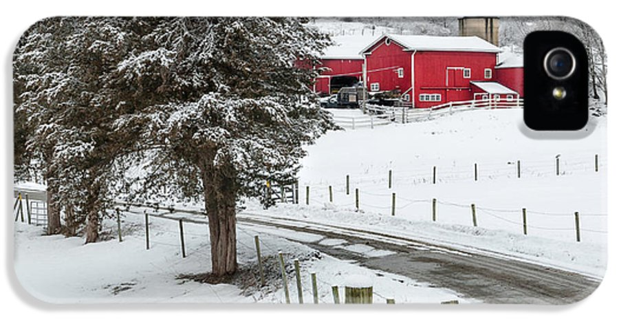 Square IPhone 5 Case featuring the photograph Winter Road Square by Bill Wakeley