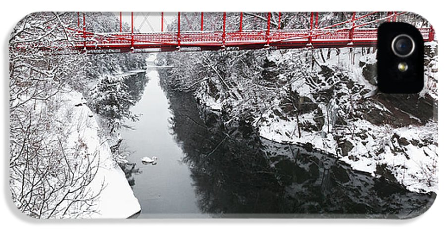 Historic Bridge IPhone 5 / 5s Case featuring the photograph Winter Solitude Square by Bill Wakeley