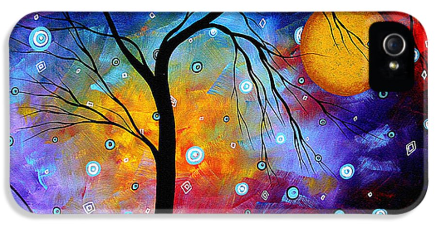 Abstract IPhone 5 Case featuring the painting Winter Sparkle Original Madart Painting by Megan Duncanson