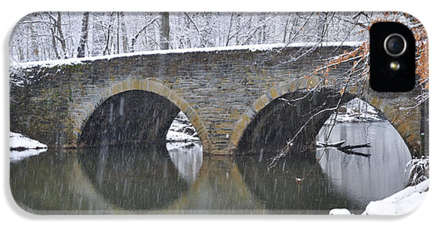 Wintertime At Bells Mill Road IPhone 5 Case featuring the photograph Wintertime At Bells Mill Road by Bill Cannon