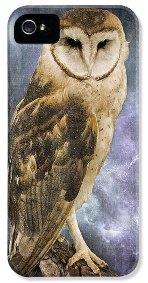 Wise Old Owl IPhone 5 Case featuring the photograph Wise Old Owl - Image Art By Jordan Blackstone by Jordan Blackstone