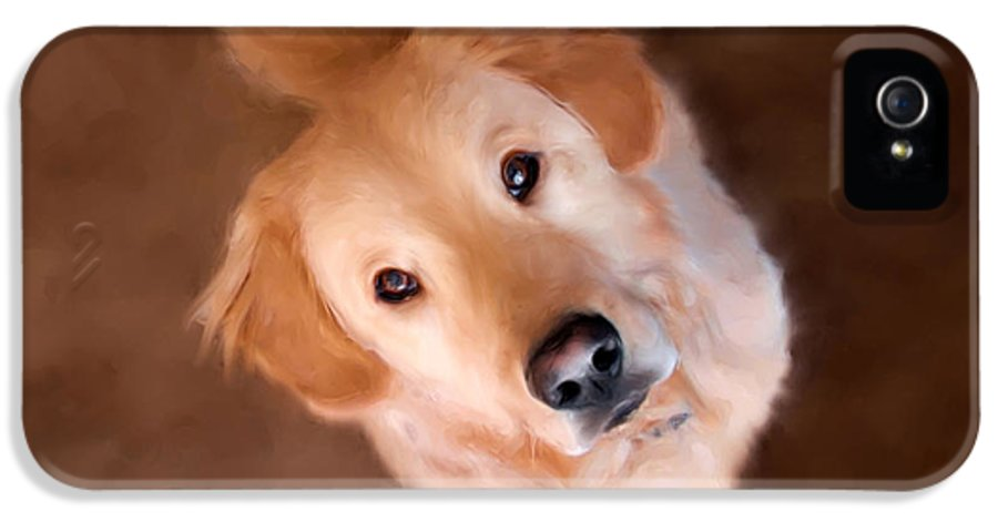 Golden Retriever IPhone 5 Case featuring the painting Wishful Thinking by Christina Rollo
