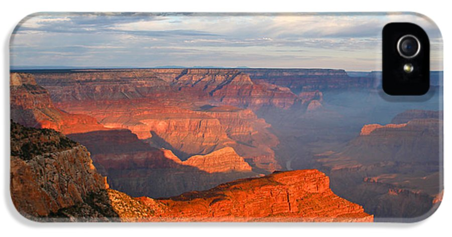 Grand Canyon IPhone 5 Case featuring the photograph With The Morning Sun On My Back by Heidi Smith