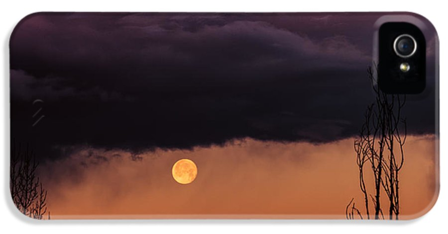 Sedona IPhone 5 Case featuring the photograph Wolf Moon by Roger Chenery