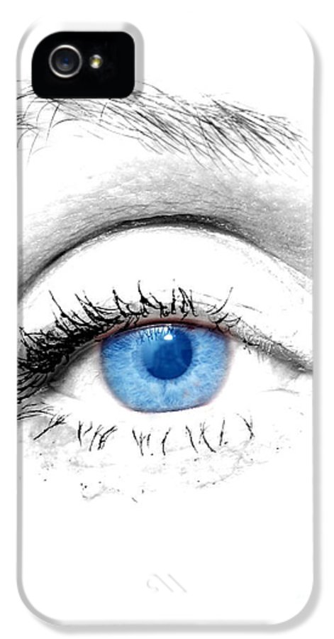 Art IPhone 5 Case featuring the photograph Woman Blue Eye by Michal Bednarek