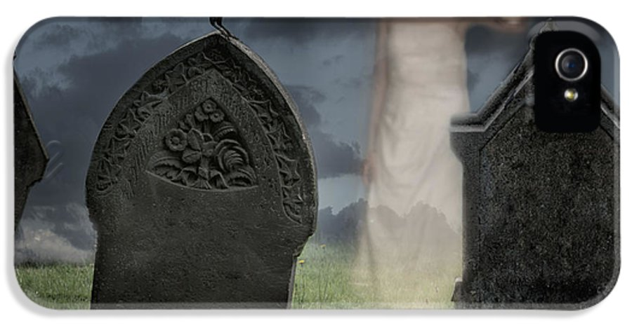 Halloween IPhone 5 Case featuring the photograph Woman Haunting Cemetery by Amanda Elwell