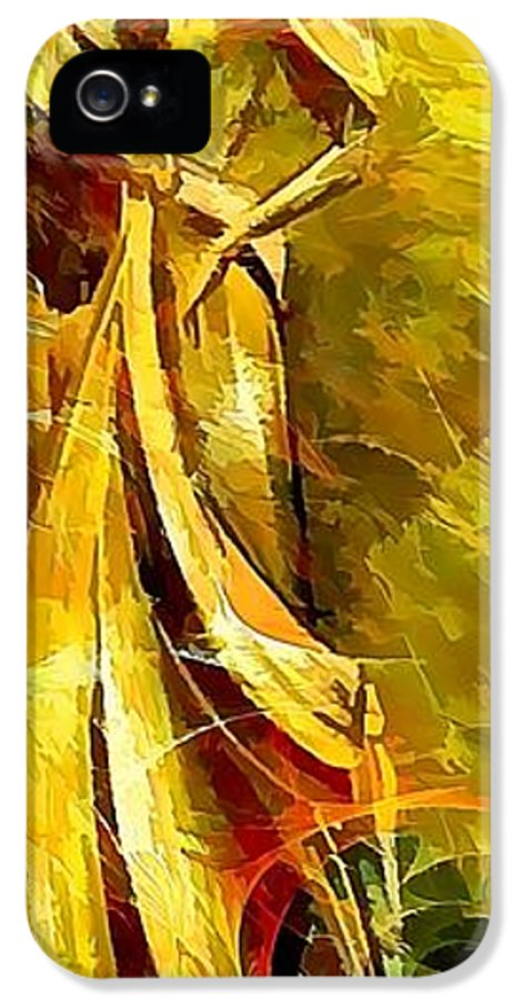 Women IPhone 5 Case featuring the painting Women 643-12-13 Marucii by Marek Lutek