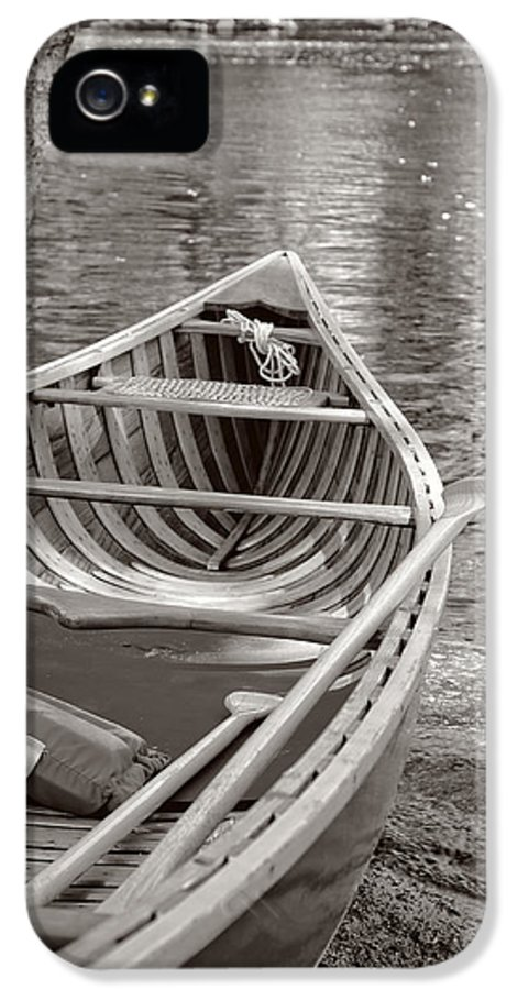 Canoe IPhone 5 Case featuring the photograph Wooden Canoe by Edward Fielding