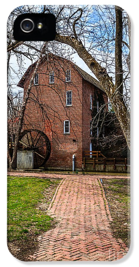 1800's IPhone 5 Case featuring the photograph Wood's Grist Mill In Hobart Indiana by Paul Velgos