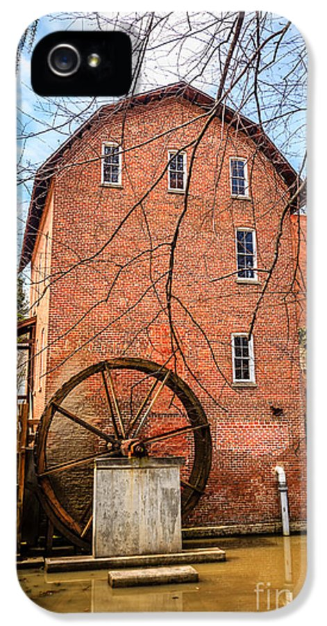 1800's IPhone 5 Case featuring the photograph Wood's Grist Mill In Northwest Indiana by Paul Velgos