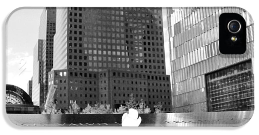 9-11 IPhone 5 Case featuring the photograph World Trade Center Memorial by Dan Sproul