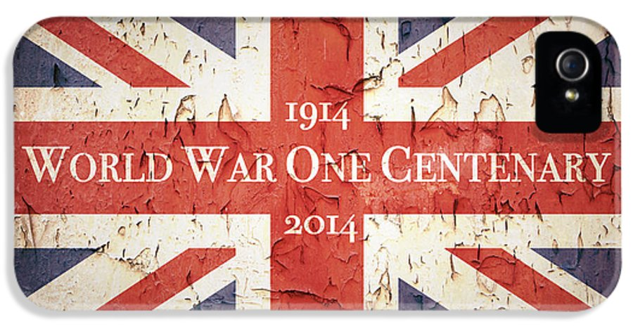 1914 IPhone 5 Case featuring the photograph World War One Centenary Union Jack by Jane Rix