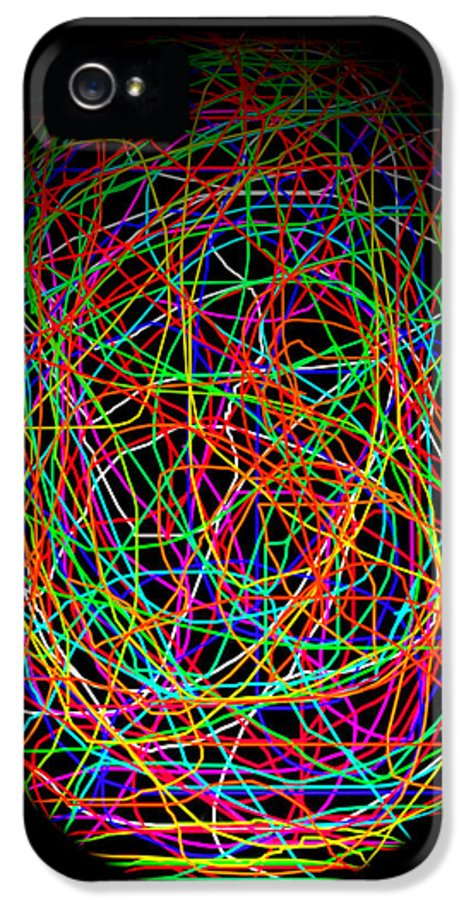 Abstract IPhone 5 Case featuring the photograph World Web by Aidan Moran