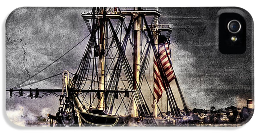 Boston Massachusetts IPhone 5 Case featuring the photograph World's Oldest Commissioned Warship Afloat - Uss Constitution by Ludmila Nayvelt