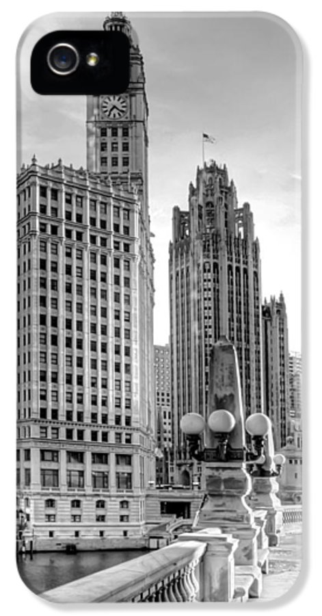 Architecture IPhone 5 Case featuring the photograph Wrigley And Tribune by Scott Norris