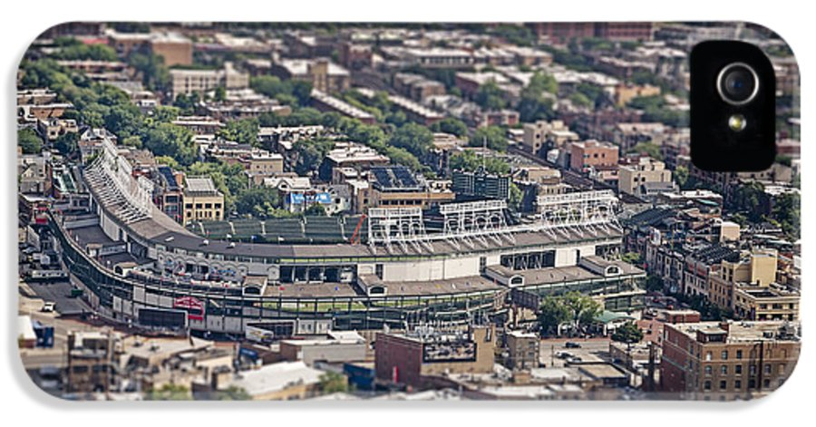 3scape Photos IPhone 5 Case featuring the photograph Wrigley Field - Home Of The Chicago Cubs by Adam Romanowicz
