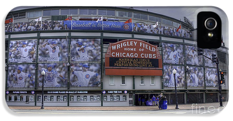 Hdr IPhone 5 Case featuring the photograph Wrigley's New Wallpaper by David Bearden