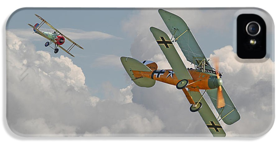 Aircraft IPhone 5 Case featuring the digital art Ww1 - Fighting Colours by Pat Speirs