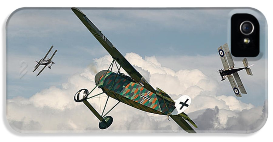 Aircraft IPhone 5 / 5s Case featuring the digital art Ww1 - Spoiled For Choice by Pat Speirs