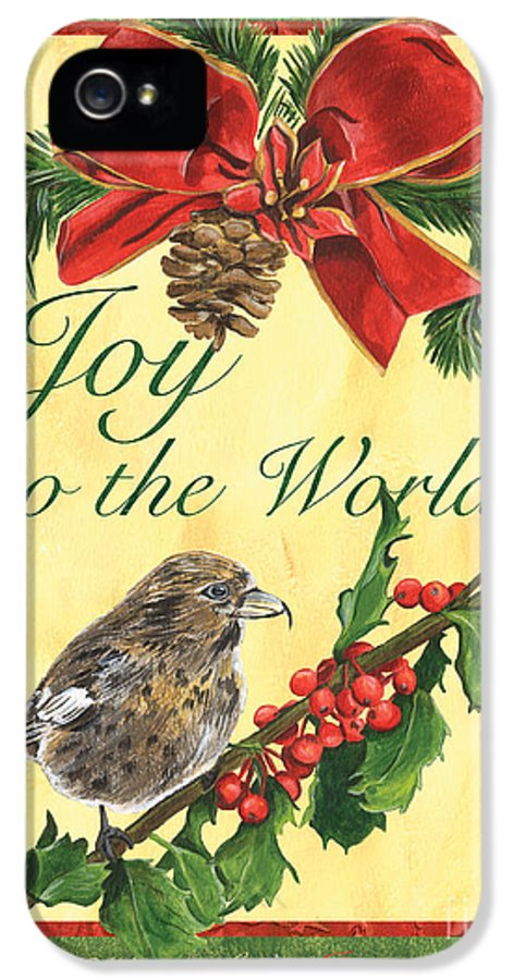 Titmouse IPhone 5 Case featuring the painting Xmas Around The World 2 by Debbie DeWitt