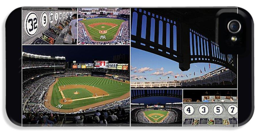 Yankee Stadium IPhone 5 Case featuring the photograph Yankee Stadium Collage by Allen Beatty