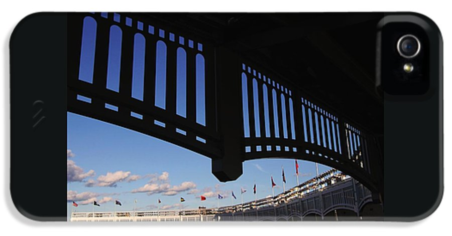 Yankee Stadium IPhone 5 Case featuring the photograph Yankee Stadium Facade by Allen Beatty