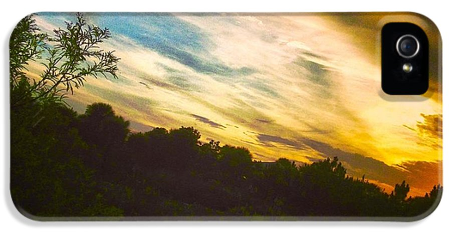 Florida Sunset IPhone 5 Case featuring the photograph Yellow Blue And Green by K Simmons Luna