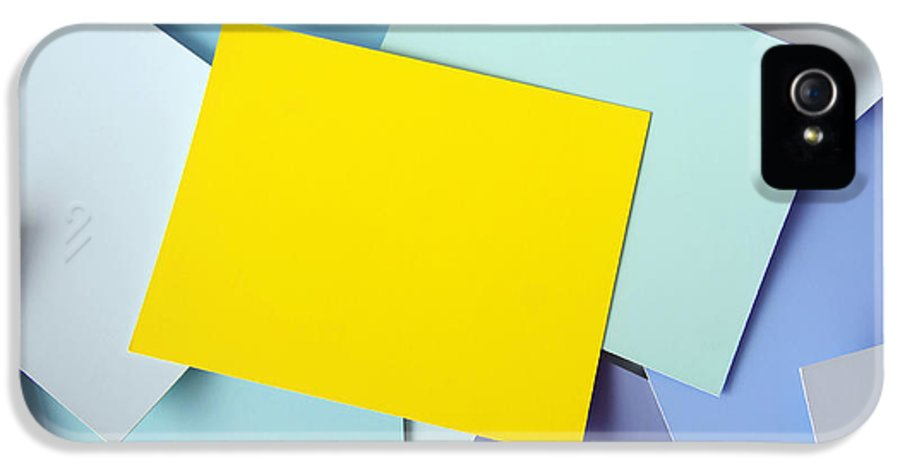 Adhesive IPhone 5 Case featuring the photograph Yellow Memo by Carlos Caetano