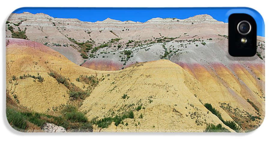 Yellow Mounds IPhone 5 Case featuring the photograph Yellow Mounds Badlands National Park by Jemmy Archer