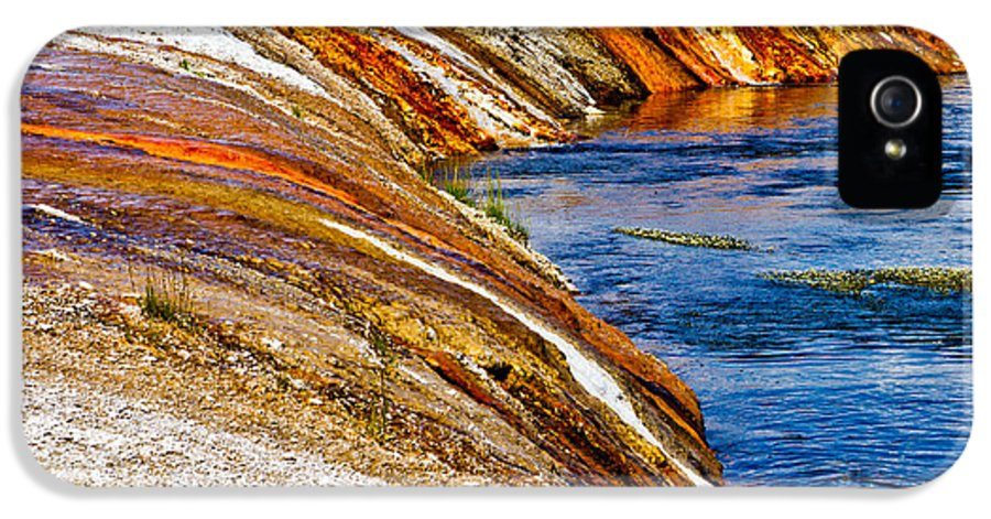 Yellowstone IPhone 5 Case featuring the photograph Yellowstone Earthtones by Bill Gallagher