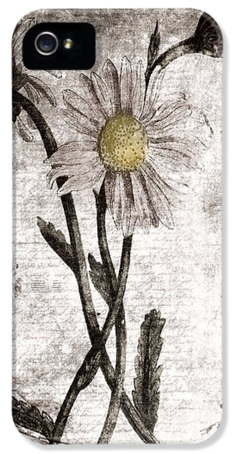 Digital Collage IPhone 5 Case featuring the digital art Yesterday's Garden II by Bonnie Bruno