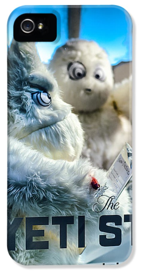 Abominable IPhone 5 Case featuring the photograph Yeti Store by Scott Wyatt