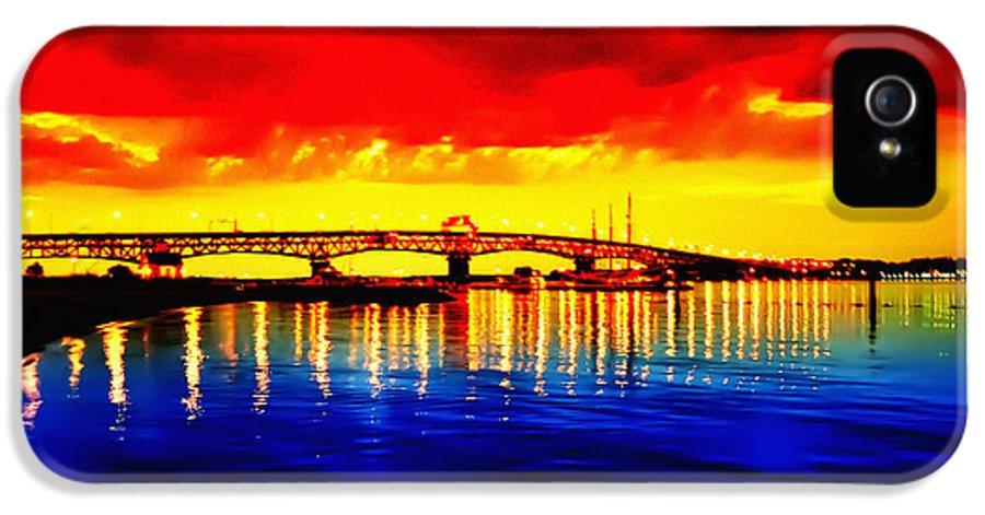 Yorktown IPhone 5 / 5s Case featuring the photograph Yorktown Bridge Sunset by Bill Cannon
