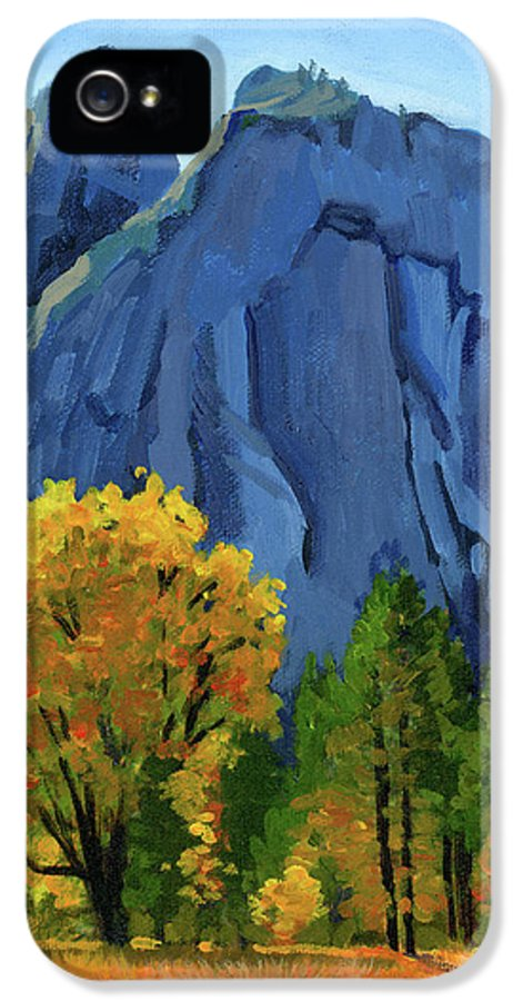 Yosemite Valley IPhone 5 / 5s Case featuring the painting Yosemite Oaks by Alice Leggett