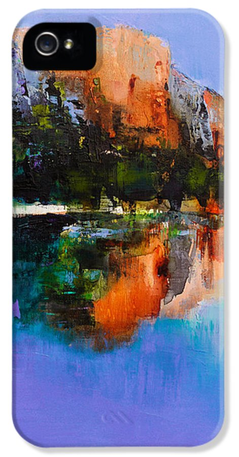 Yosemite IPhone 5 Case featuring the painting Yosemite Valley by Elise Palmigiani
