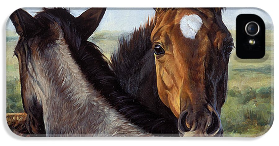 Michelle Grant IPhone 5 Case featuring the painting You Scratch Mine by JQ Licensing