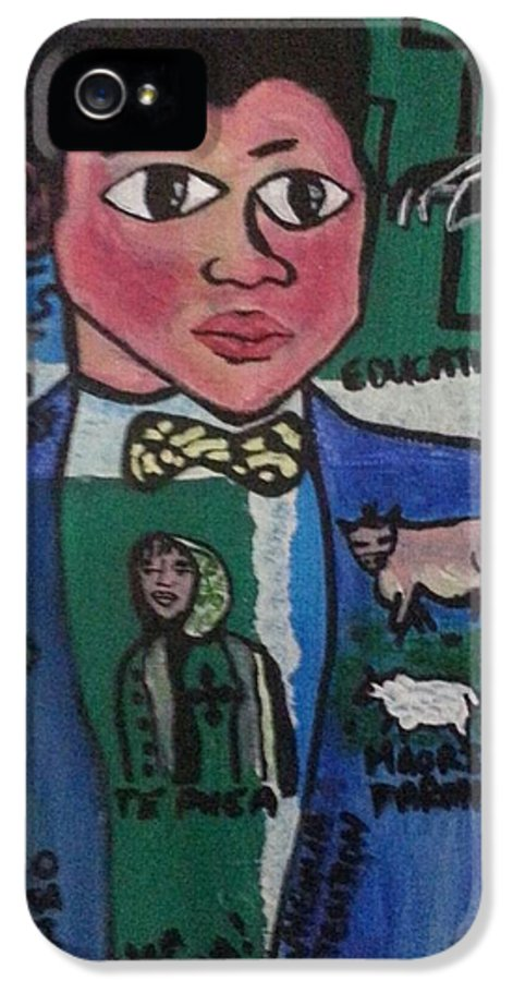 Sir A T Ngata Thr First Maori Graduate And Lawyer. Pic Shows How He Developed Maori. ..education..farming..war..dairy Farming..politics ..the Arts..etc IPhone 5 Case featuring the painting Young Apirana Ngata by Hori Kiwara