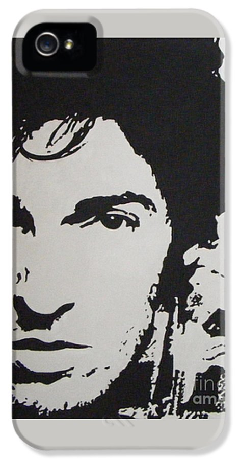 Bruce Springsteen IPhone 5 Case featuring the painting Young Boss by ID Goodall