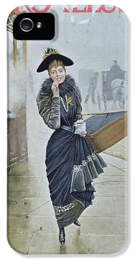Street Scene IPhone 5 Case featuring the painting Young Parisian Hatmaker by Jean Beraud