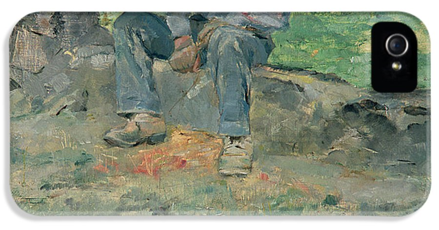 Man IPhone 5 Case featuring the painting Young Routy At Celeyran by Henri de Toulouse-Lautrec
