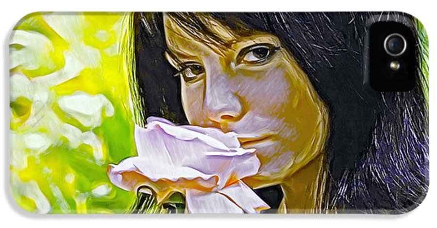 Youthful IPhone 5 Case featuring the photograph Youthful Rose by Brian Giddings