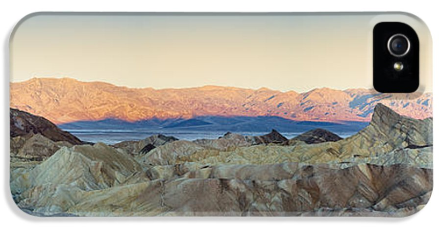 Valley IPhone 5 Case featuring the photograph Zabriskie Point Panorana by Jane Rix