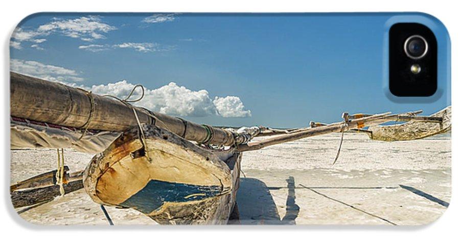 3scape Photos IPhone 5 Case featuring the photograph Zanzibar Outrigger by Adam Romanowicz