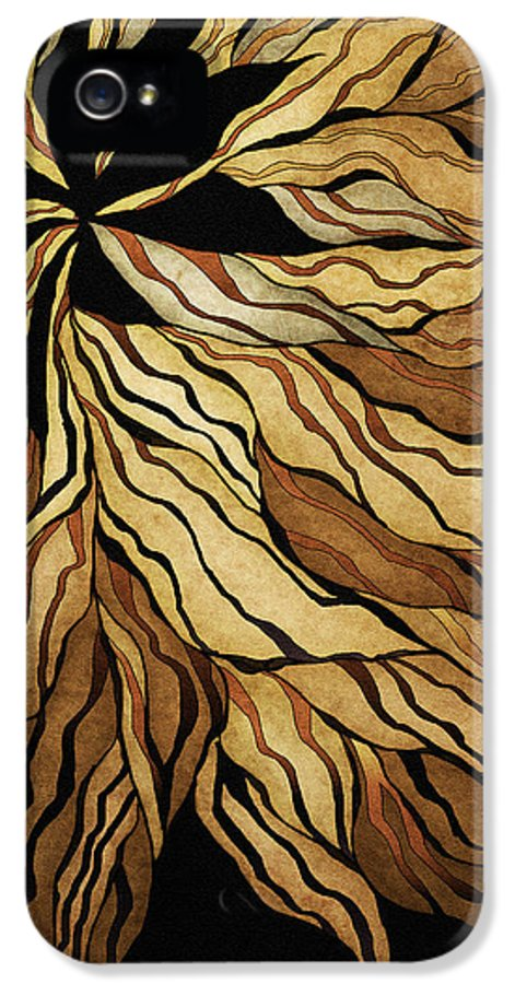 Abstract IPhone 5 Case featuring the painting Zen Blossom by Brenda Bryant